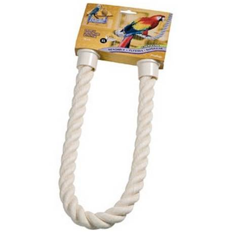 Vogel Zitstokken - Buigzame touw-zitstok naturel Extra Large.
