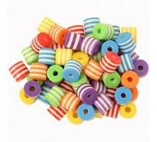 Veelkleurige plastic rondjes per 50 stuks