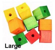 Gekleurde houten blokjes groot per 9 stuks