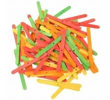Gekleurde houten Ice Lolly Sticks - 100 Stuks