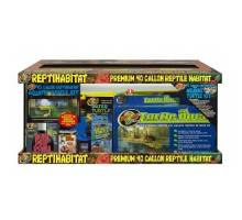 Waterschildpadden aquarium Zoo Med 20 Gallon ReptiHabitat Aquatic Turtle Kit