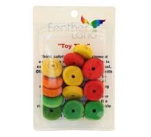 Colourful Wood Wheels 18stuks