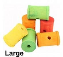 Gekleurde houten rol large per 6 stuks