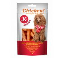 JK Hondensnack Chicken Saucages with Cheese