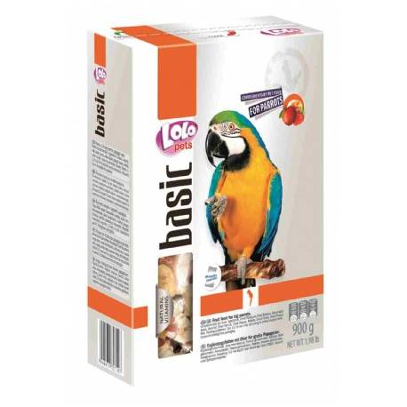 Lolo Pets Gedroogd Fruit voor Papegaaien 900 gram