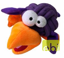 COOCKOO DOG TOY BOBBLE REGULAR, 8CM, KNOT-PLUSH, PURPLE