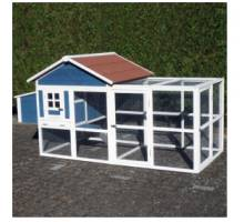 Chicken House Calypso Blue/Red