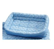 Quiet Time Deluxe Double Bolster Bed - Powder Blue 76x53 cm