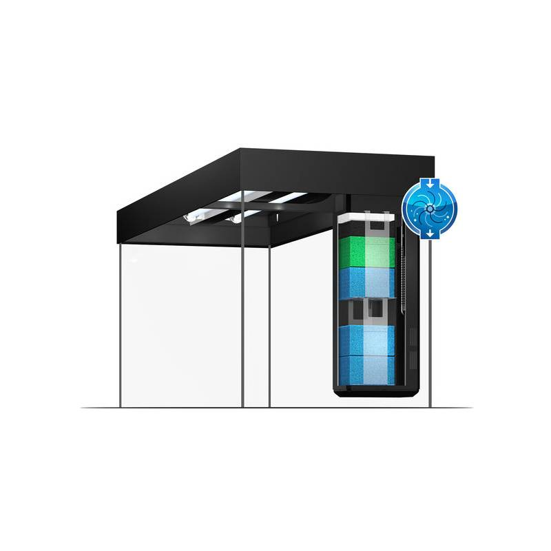 juwel aquarium lido 200 zwart led avonturiashop. Black Bedroom Furniture Sets. Home Design Ideas