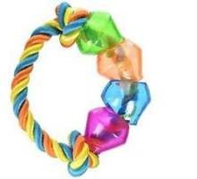 JW Treat Pod Rope Ring Mulit color - small 17,8cm