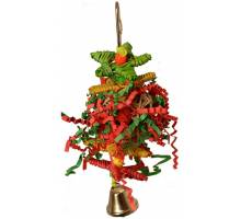 Christmas Crinkle Little Star Parrot Toy