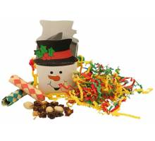 Snowman foraging goodie box