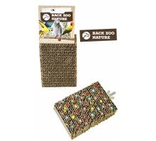 Back zoo nature Cardboard Treat Block