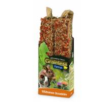 JR Farm Grainless Farmys wilde zaden en distelbloemen 140 gram