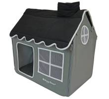 Happy-House Dog & Cat Villa Soft Grijs/Zwart 62x42x59cm