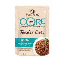 Wellness CORE Wet Tender Cuts chicken/salmon 85 GR