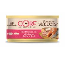 Wellness CORE Sign sel flake tuna/salmon broth 79 GR