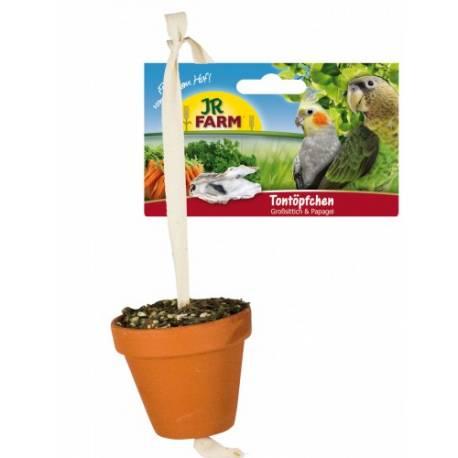 JR Farm grote parkiet en papegaai pot a 260 gram