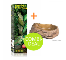 COMBI-DEAL! Exo Terra Dripper Plant Largen + Water Dish Large