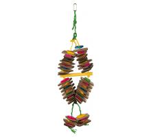 Trixie Houten Speelgoed aan Sisaltouw meerkleurig, 18 × 35 cm