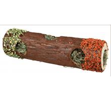 Trixie Tunnelbuis met Hooi en Hibiscusbloesem groot ø 9 × 30 cm 35 gram