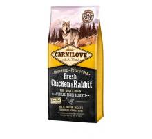 Brit Carnilove Dog Fresh Eend en Konijn 12 kg