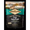 Brit Carnilove Dog Fresh Karper en Forel Stralende vacht en gezonde huid 1,5 kg
