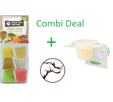 Combi-Deal Rep Pro Jelly pot holder single + Back Zoo Nature Fruitkuipjes mix reptiel 6 stuks