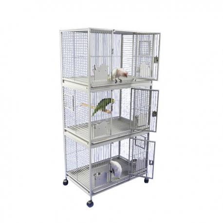 Strong Papegaaienkooi Flight Cage Triple Silvertone