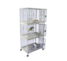 Strong Papegaaienkooi Flight Cage Triple Silvertone