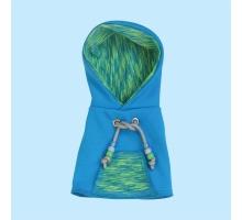 Papegaaien Hoodie Wide Aqua Yoga