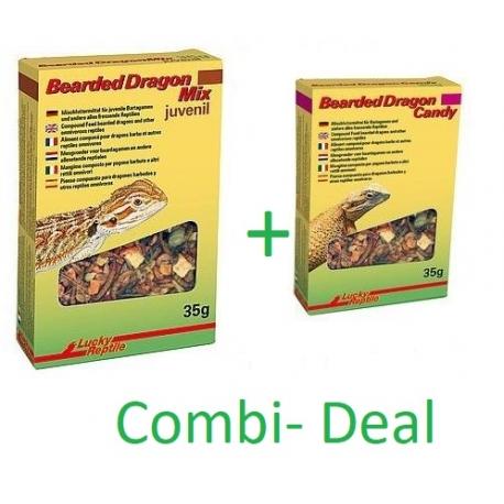 Combi- Deal Lucky Reptile Bearded Dragon Candy + Mix Juvenile 35 Gram