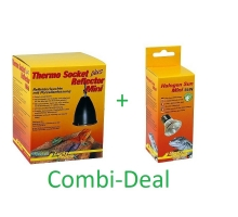 Combi-Deal Lucky Reptile Thermo Socket + Reflector Mini + Lucky Reptile Halogen sun Mini 20W