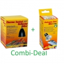 Combi-Deal Lucky Reptile Thermo Socket + Reflector Mini + Lucky Reptile Halogen sun Mini 50W