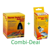 Combi-Deal Lucky Reptile Thermo Socket + Reflector Mini + Lucky Reptile Halogen sun Mini 50W