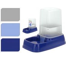 Voeder/ waterbak met reservoir 3 kleuren assorti