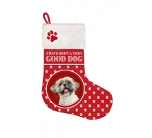 Kerst Stocking Shih Tzu