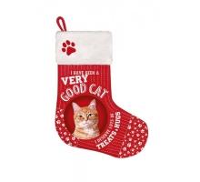 Kerstsok Kat Rood