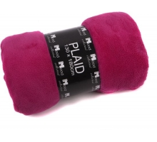 Plaid Fleece 130 x 180 cm Fuchsia