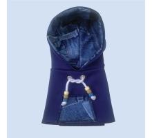 Papegaaien Hoodie Wide Blue Jean