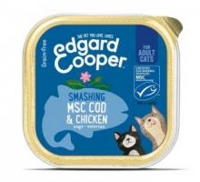 Edgard & Cooper Adult Kat Kip & Kabeljauw Kuipje 85g