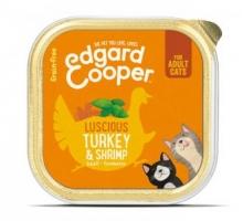 Edgard & Cooper Adult Kat Kalkoen & garnalen Kuipje 85g