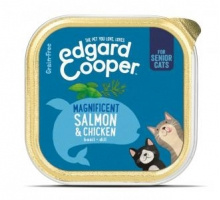 Edgard & Cooper Adult Kat Kip & Zalm Kuipje 85g