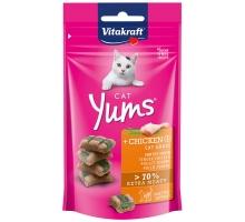 Vitakraft Cat Yums Kip en kattengras - kattensnoepjes