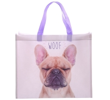 Puckator Franse Bulldog WOOF Shopping Bag