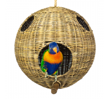 Rotan Birdhouse Round Medium