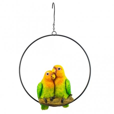 Paradise Bird Lovebirds in ring