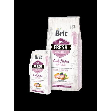 Brit Fresh Chicken with Potato Puppy Healthy Growth 2,5kg