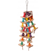 Back Zoo Nature Wooden Pillar Strings