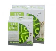 Eat Slow Live Longer Round Feeder Groen Large
